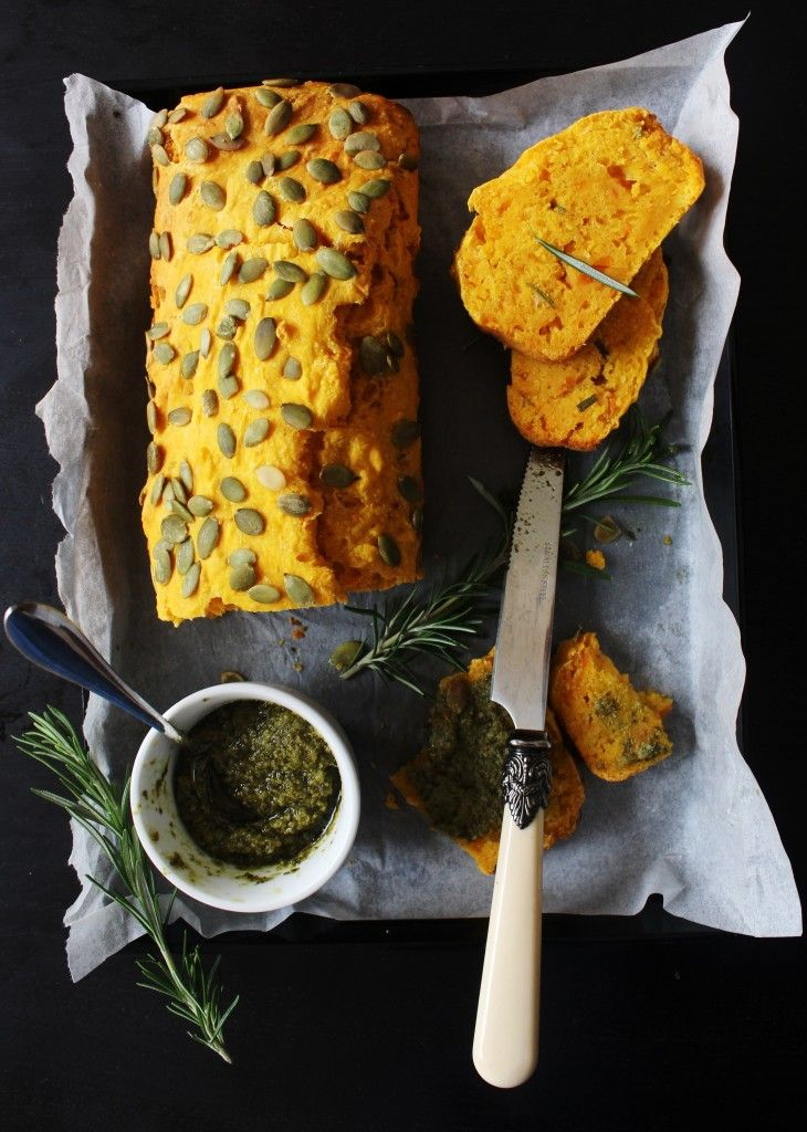 This sounds amazing, and it's healthy and low-fat... self-rising flour makes it easy and quick: Pumpkin Rosemary Bread.