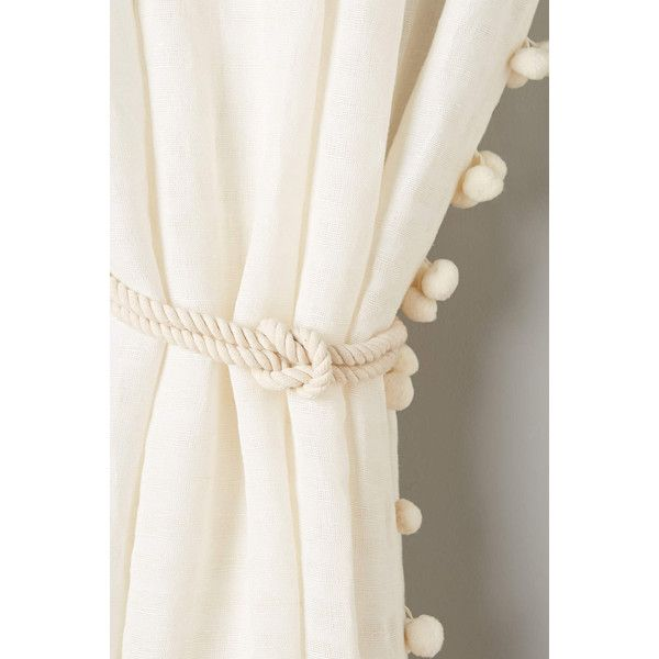Anthropologie Anchored Tieback ($38) ❤ Liked On Polyvore Featuring Home,  Home Decor,. Velvet CurtainsWhite CurtainsPom ...