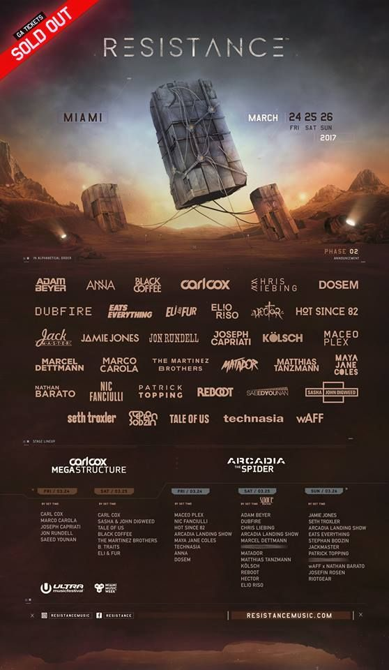 Ultra Music Festival announces its phase 2 lineup for 2017 and it's a huge one! | EDM Nations