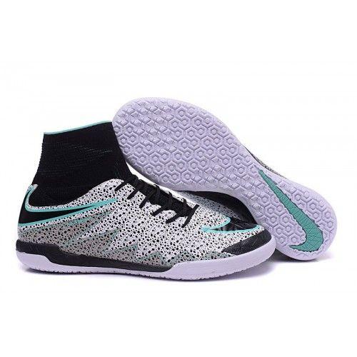 best service aac8a b80b1 chaussure de foot salle Nike Hypervenom X Proximo Safari Blanche Noir Verte  Glow IC achat en ligne