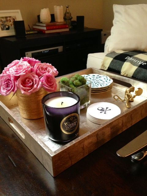 Decorative Trays For Ottomans 156 Best I Love Trays Images On Pinterest  Decorating Ideas