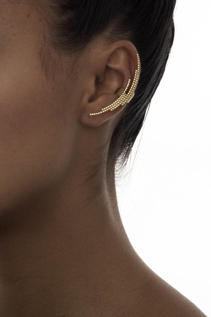 CRESCENT EAR CUFF - MARIA BLACK