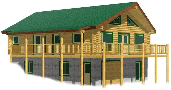Eagle Creek basement cheap log cabin kit