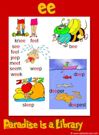 ee phonics poster