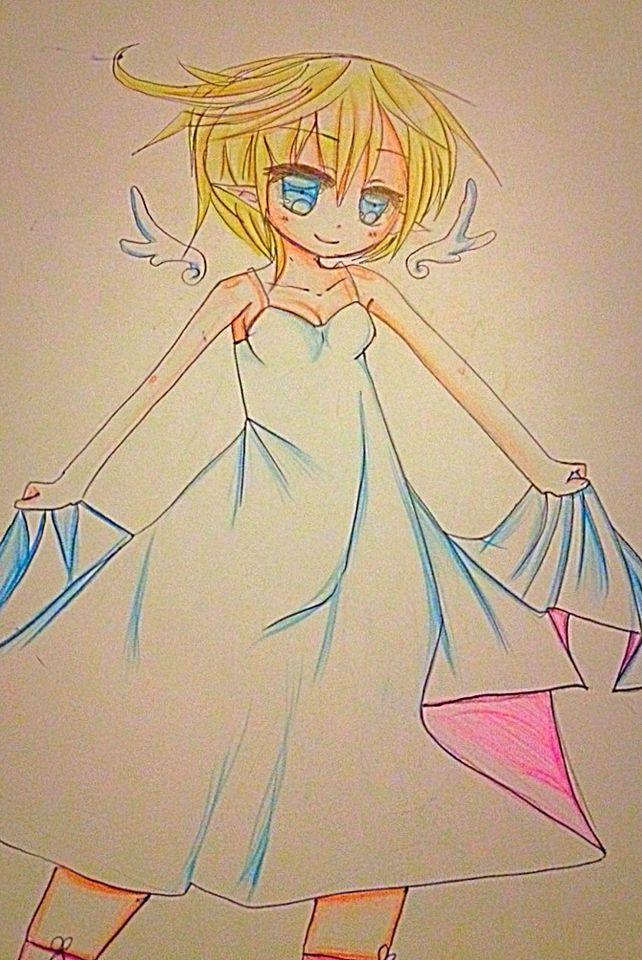 My art  Chick Little angel