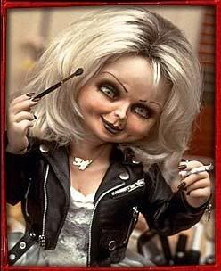 Tiffany (from Bride of Chucky, 1998). Portrayed & Voiced by Jennifer Tilly