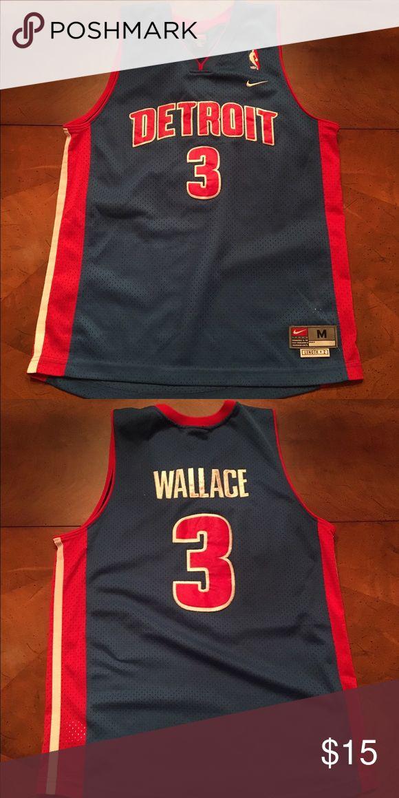 Ben Wallace Detroit Pistons Basketball Jersey #3 Ben Wallace Detroit Pistons basketball jersey #3 blue Youth Medium Nike Other