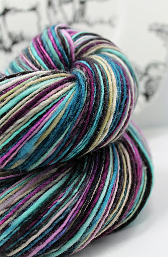 Handspun Yarn Gently Thick and Thin DK Single by SheepingBeauty, $46.00