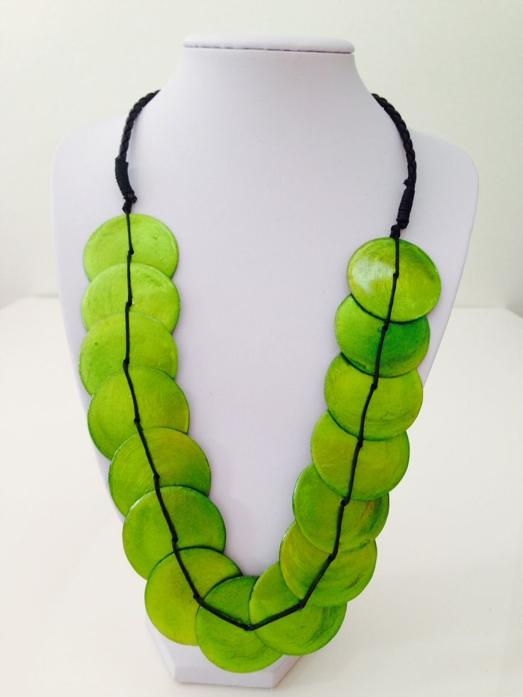 Beautiful green shell necklace $10, go to www.melikeshoes.com.au (We always do free shipping)