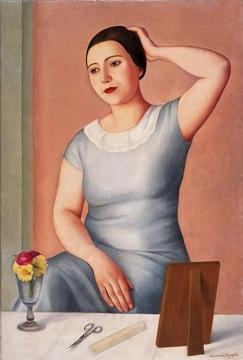 Antonio Donghi Donna alla toilette 1930