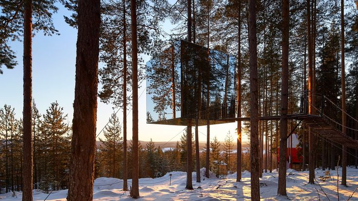 British photographer Nick Hufton of Hufton + Crow has visited the Treehotel in northern Sweden to capture its seven unusually themed woodland suites.