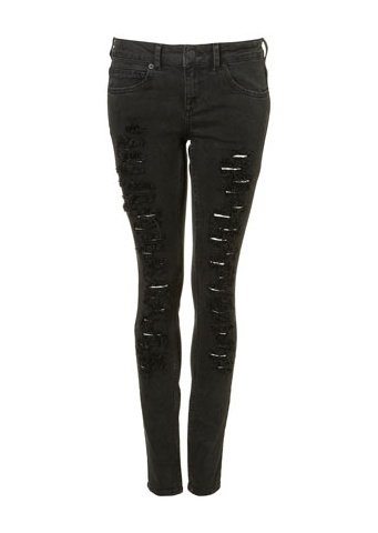 Black ripped jeans juniors – Global fashion jeans collection
