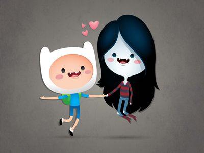 Dribbble - Finn and Marceline by Jerrod Maruyama