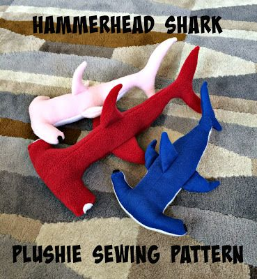 Cation Designs: Hammerhead Shark Plushie Pattern and Tutorial