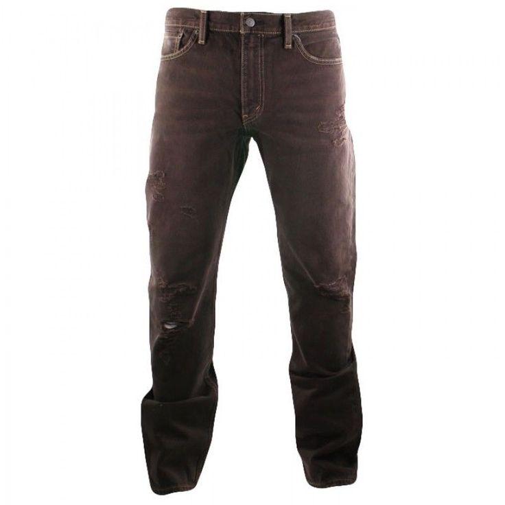 NEW bnwt Mens LEVIS 511 Rad Brown destroyed SLIM STRAIGHT LEG JEANS size W34 L34 ebay
