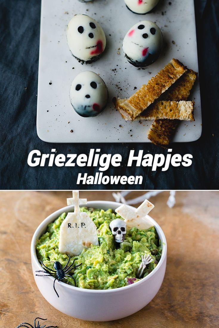 Koken met kinderen: Griezelige Halloween Hapjes http://mamaabc.be/halloween-hapjes/