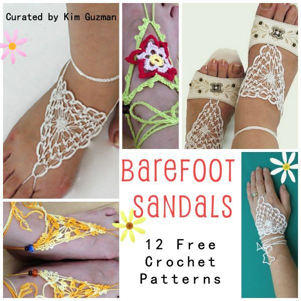 WIPs 'N Chains | Link Blast | 12 Free Crochet Patterns for Barefoot Sandals