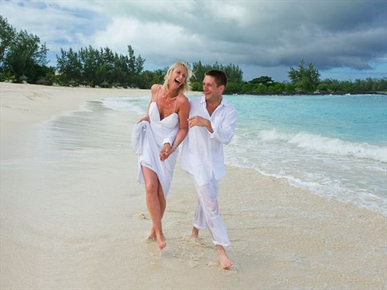 Honeymooners on ile des Deux Cocos island, Mauritius - 2015