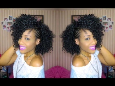 DIY : SIDE MOHAWK CROCHET BRAIDS USING X-PRESSION HAIR , KNOTLESS SIDE PART - YouTube