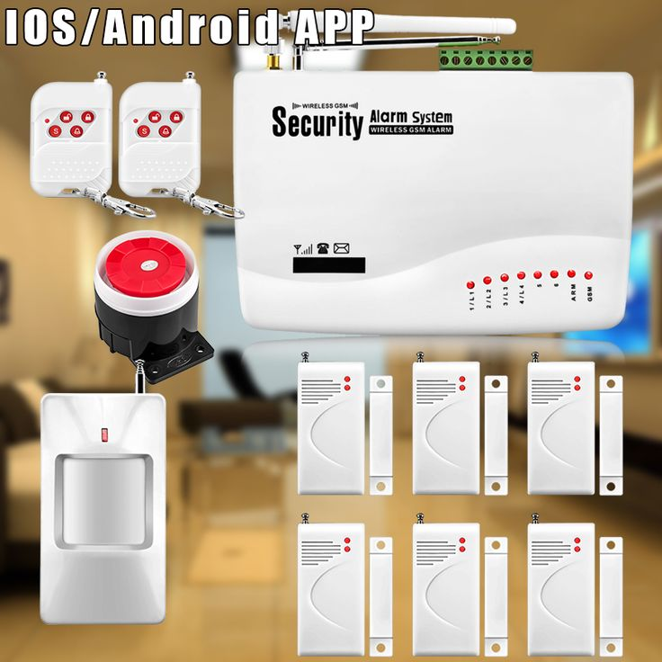 Etiger 57Kit Home Alarm Systems 850/900/1800/1900 Wireless GSM SMS Burglar PIR Voice Remote Control Set Arm/Disarm
