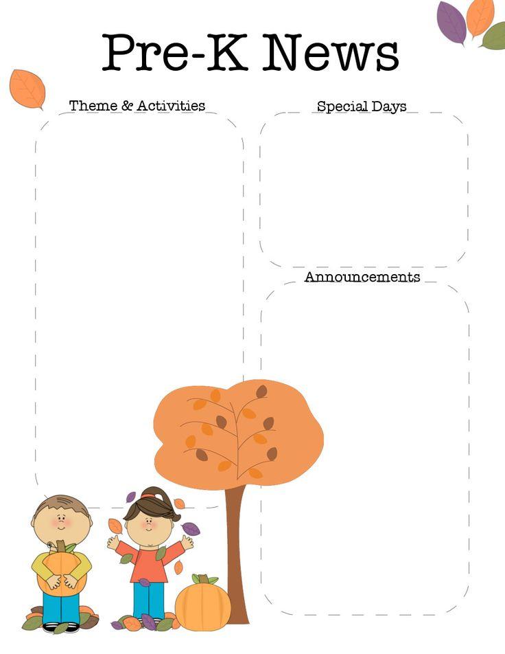 33 best Class Newsletters images on Pinterest Newsletter ideas - preschool newsletter template