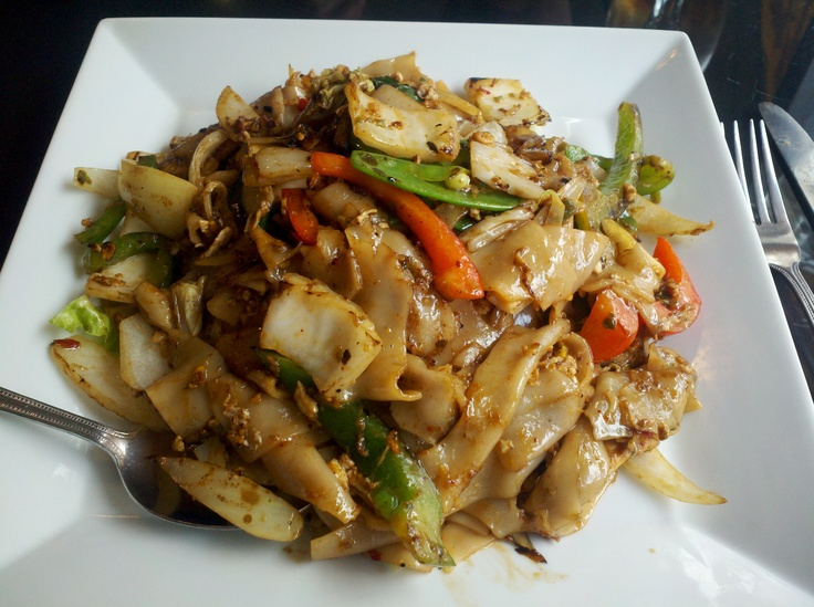 Drunken Noodles at Thai Spoon in Dormont. A favorite when I want a great spicy dish. http://www.urbanspoon.com/r/23/1651954/restaurant/Dormont/Thai-Spoon-Pittsburgh