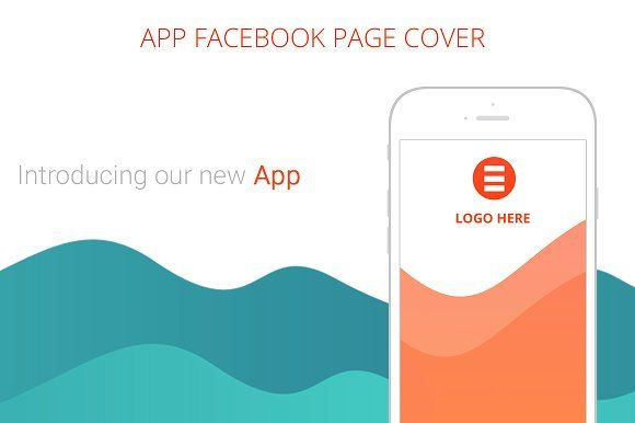 New App Facebook Page Cover by NeptuneOnline on @creativemarket