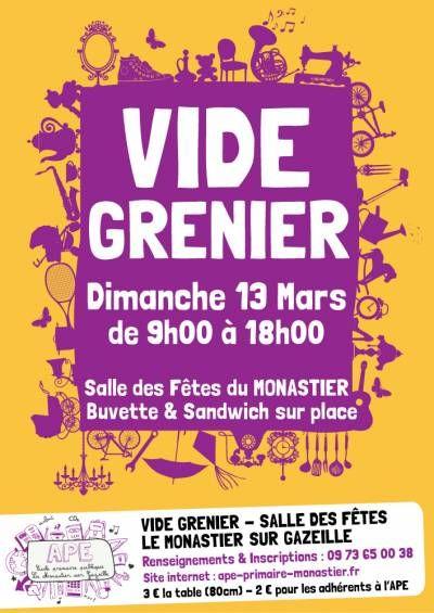 affiche VIDE-GRENIER