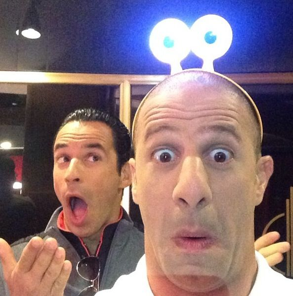 How adorable are these two? XD Helio Castroneves and Tony Kanaan at the Turbo premiere.