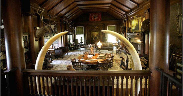 11 of the Most Impressive Trophy Rooms in the World  :      (Teddy Roosevelt's home on Long Island)