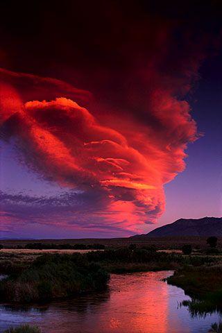 Lenticular Cloud over the Owens River, Eastern Sierra (California, 1991)