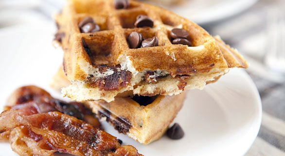 Chocolate and Bacon Waffles