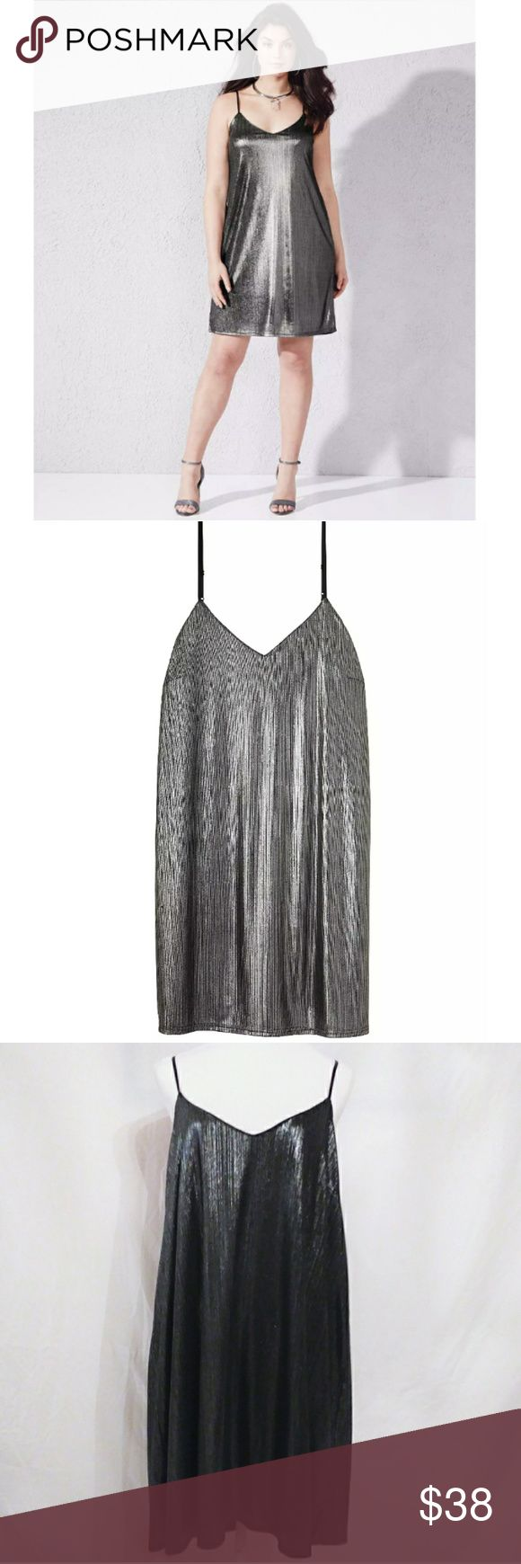 "Silver & Grey Metallic Cami Dress Silver & Grey Metallic Cami Dress size - 16. Beautiful metallic silver/grey stretch fabric with a v-neck front, adjustable straps, and fully lined. Measures 35"", 93% polyester, 7% spandex. Pair this with your favorite metallic heels to finish your look! Simply Be Dresses Mini"