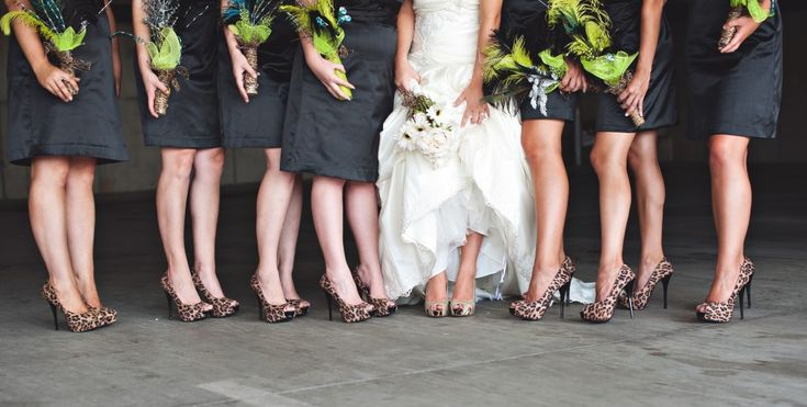 leopard print wedding | On a lighter note: shoes -love me some leopard print!