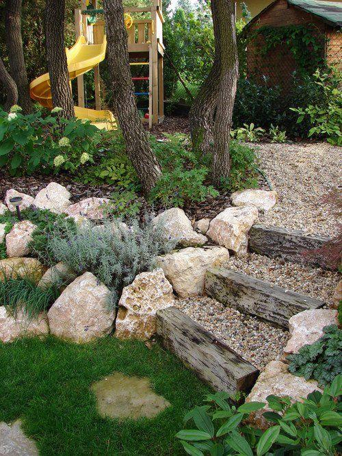 Spectacular Umbauten im Garten machen Sie einfach selbst originelle Arten f r ein Treppchen im Garten