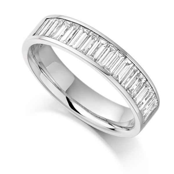 1 Carat Channel Set Baguette Half Eternity Ring