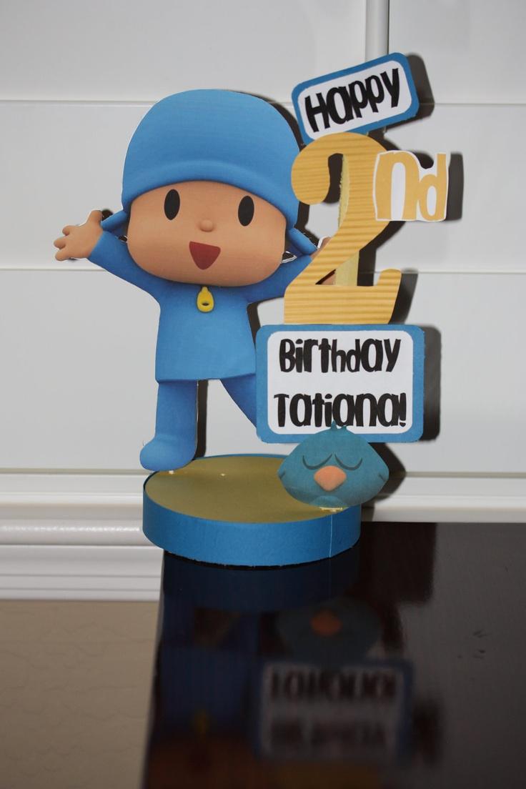 Pocoyo Personalized Birthday Party Centerpiece. $17.50, via Etsy.