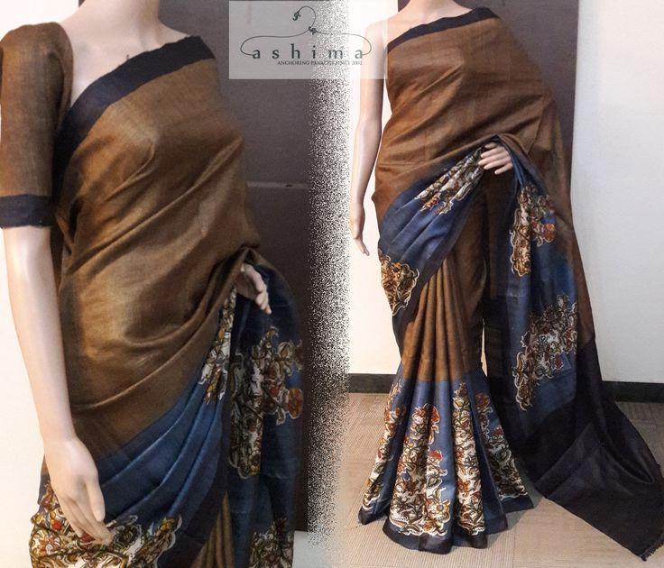 Code:1004174 - Tussar Silk Saree, Price INR:7890/-
