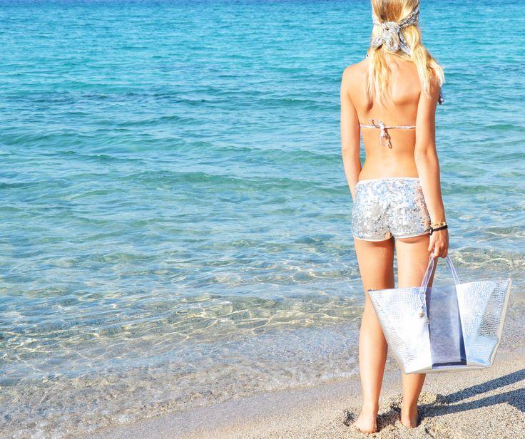 Borsa Mare WyandOtte Cocco Argento/Trasparente http://bit.ly/WaOmare
