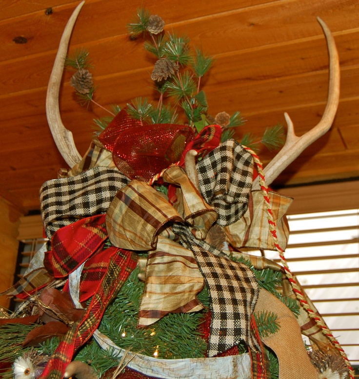 Christmas Tree Made Of Deer Antlers: It's What The Top Of Our Christmas Tree Looks Like