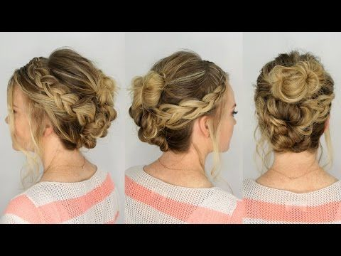 Casual Braid and Bun Updo | Missy Sue - YouTube