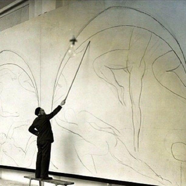 Matisse working on the dance Henri Matisse