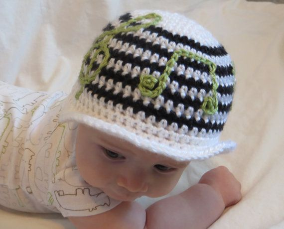 Crocheting Music : Music Hat - Baby Photo Prop - Music Notes - Musical Crochet Hat - Gen ...