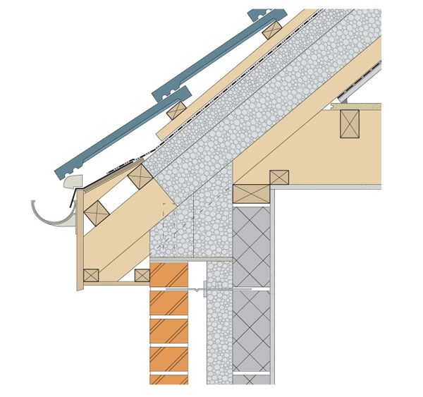 Cold Roof Detail Insulation In Rafters Google Search