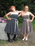 Two chiffong dresses, made spring 2008