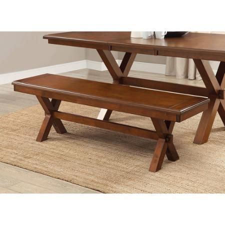 Better Homes And Gardens Maddox Crossing Wooden Dining Bench