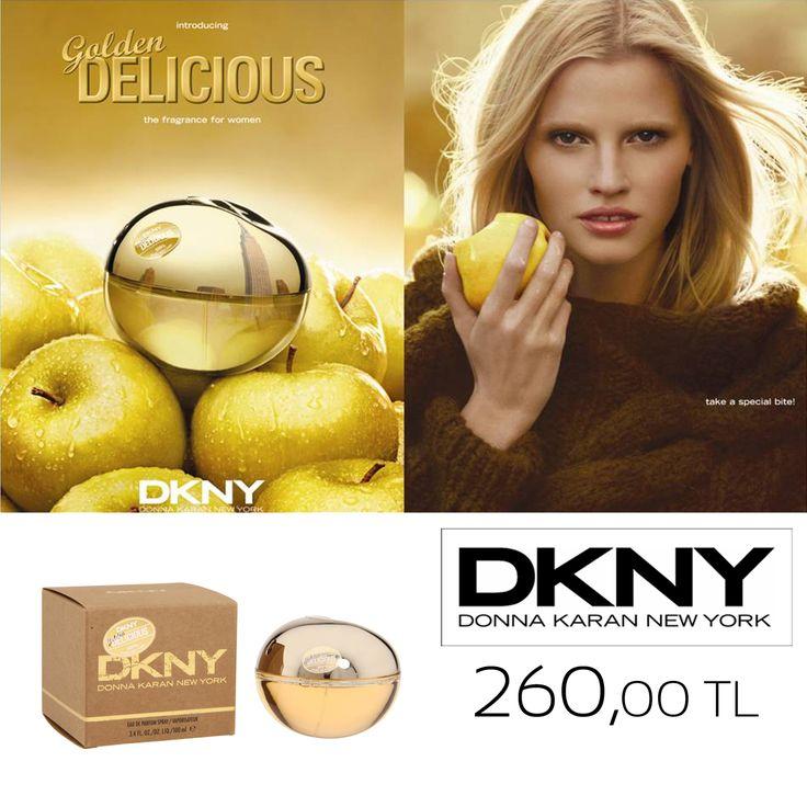 Dünyaca ünlü DKNY koleksiyonu elma aromalı parfümü Golden Delicious.   #DKNY #Donnakaran #parfüm #perfume #Goldendelicious