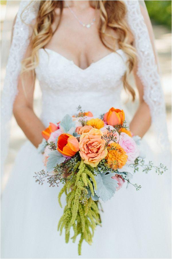 Orange bouquet // Ashleigh Jayne Photography // via Le Magnifique Blog