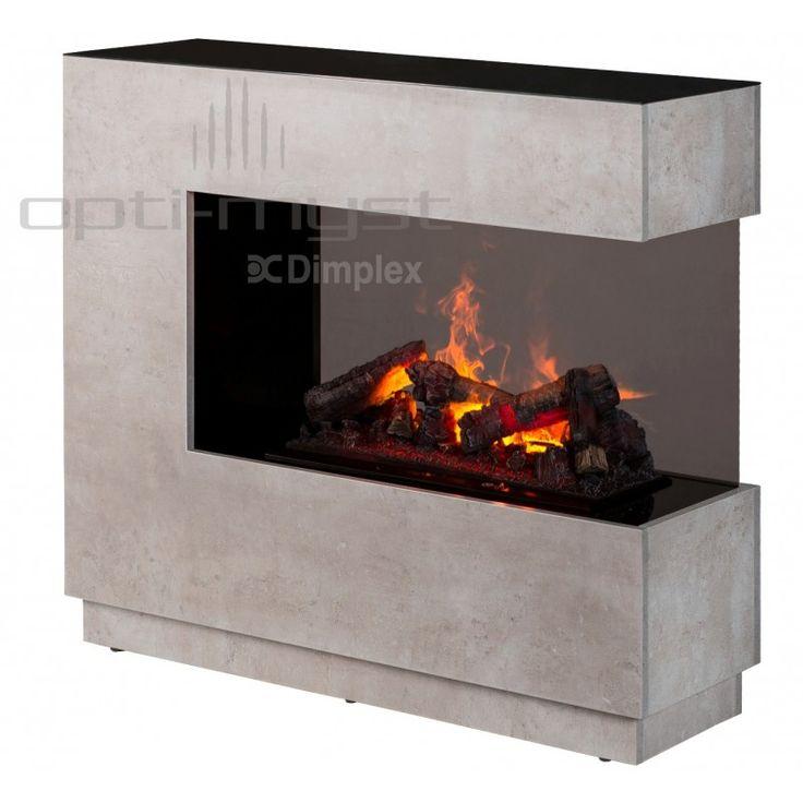 ZEN - elektrický krb Dimplex se systémem imitace ohně Opti-myst a ostěním v barvě betonu Elektrický krb s technologií OPTI-MYST. Reálný dým tvořený vodní párou věrně imituje hořící oheň. 3D efekt zaručen.
