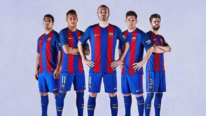 Barcelona novo uniforme (Foto: Divulgação/Site oficial do Barcelona)